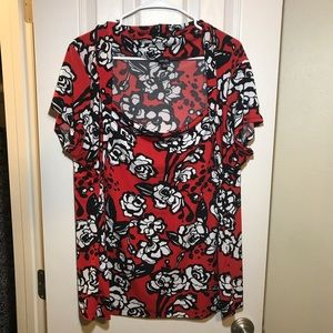 2X Rafaella Woman blouse with rose print
